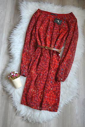 Новое красное цветочное платье с поясом Atmosphere, фото 2