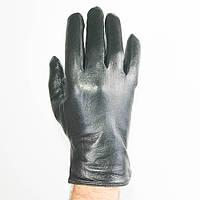 Оптом мужские кожаные перчатки с махровой подкладкой - №M4-1, фото 1