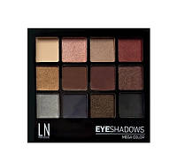 "Палетка теней для глаз ""LN Professional"" Mega Color Eyeshadows Kit тон 12-2"