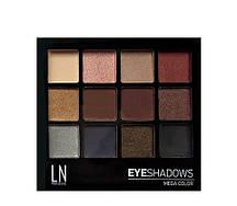 "Палетка теней для глаз ""LN Professional"" Mega Color Eyeshadows Kit тон 12-2"