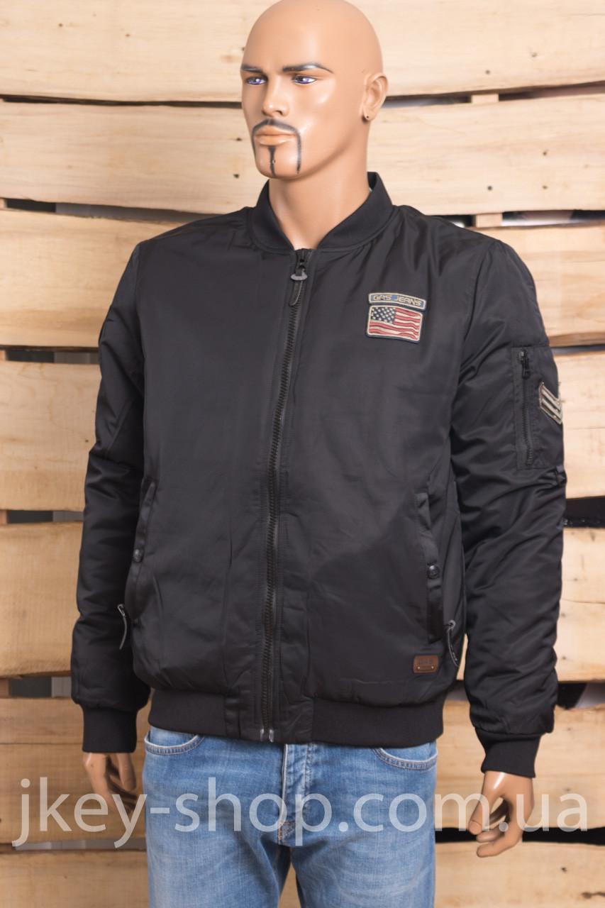 Куртка - Бомбер мужская GAS GAS K18-7406 ZHENGA BLACK BOOMBER
