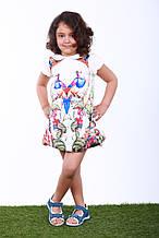 Детское платье для девочки, 21POPUGAY р. 110 см Белое