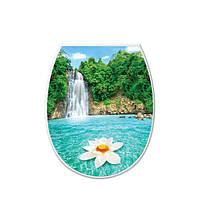 """Крышка для унитаза с рисунками """"Anemo"""" Elif Plastik, Турция 36.5x45x35 см"""