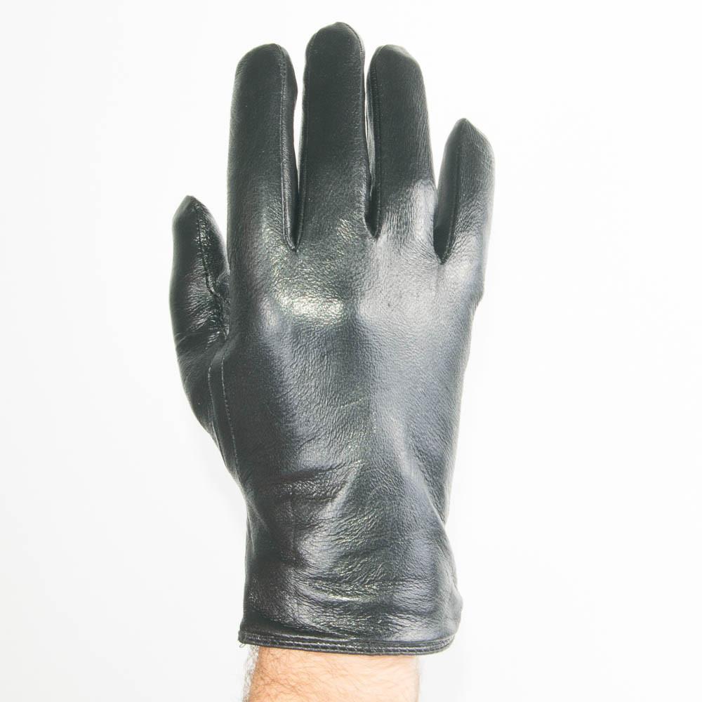 Мужские кожаные перчатки с махровой подкладкой - №M4-1
