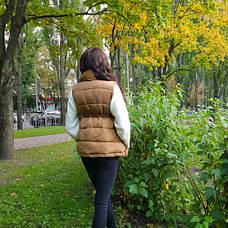 Жилет цвета хаки с поясом - 221-07, фото 3