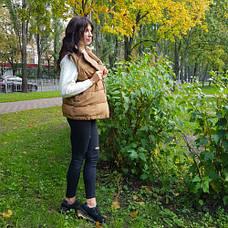Жилет цвета хаки с поясом - 221-07, фото 2