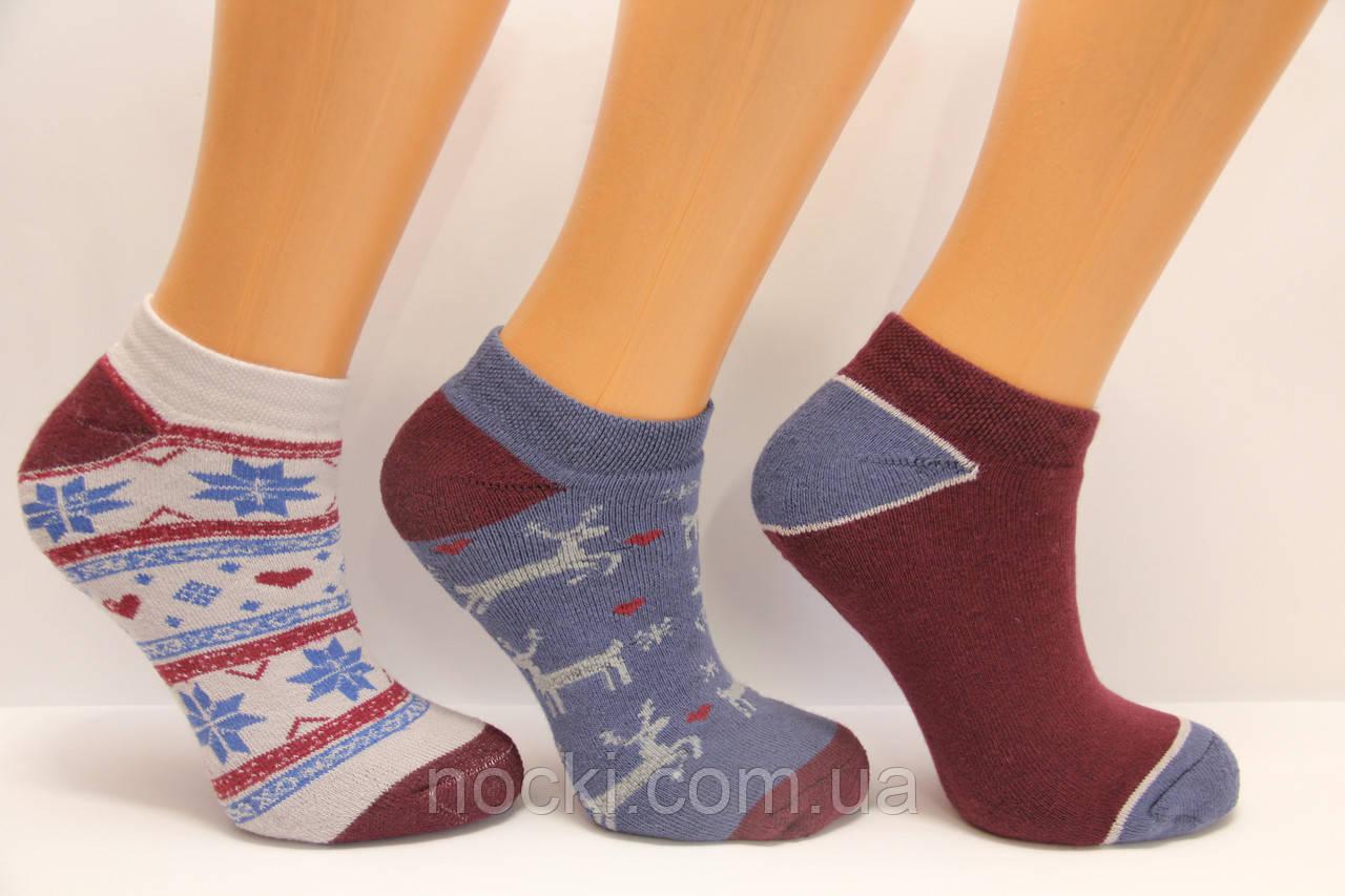 Женские носки махровые короткие с хлопка РР КЛ 35-38  136,137,138