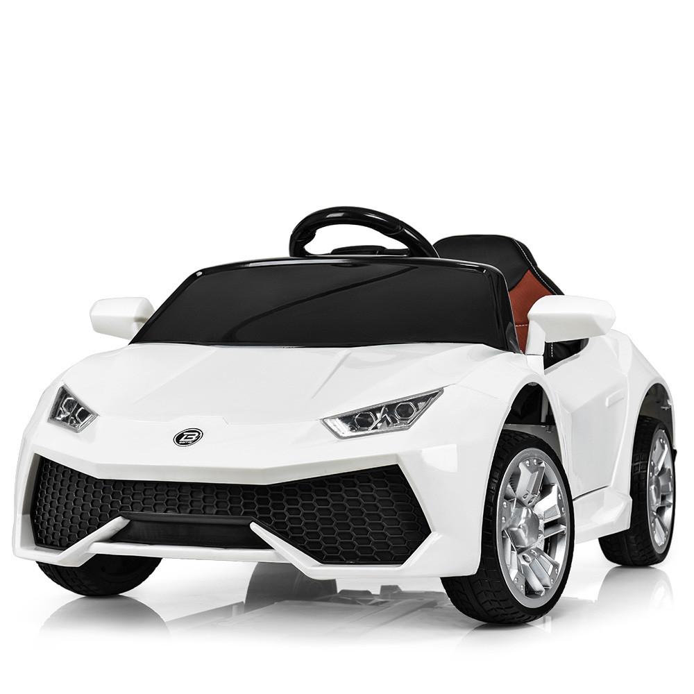 Детский электромобиль Lamborghini M 3826 EBLR-1: 2.4G, EVA, 50W, кожа - БЕЛЫЙ - купить оптом