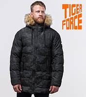 Куртка удлиненная на меху зимняя мужская Tiger Force - 51480F черная
