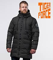 Куртка на меху удлиненная зимняя мужская Tiger Force - 52311O темно-зеленая
