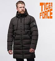 Куртка на меху удлиненная зимняя мужская Tiger Force - 54386 кофе