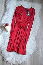 Новое красное платье с красивой талией Boohoo, фото 2