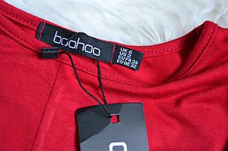 Новое красное платье с красивой талией Boohoo, фото 3