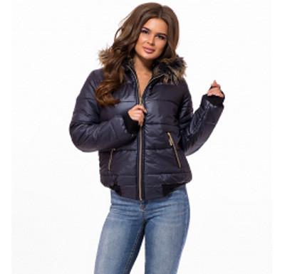f00da75cf6c Купить Короткая куртка женская низ и рукав рибана темно-синяя р. 42 ...