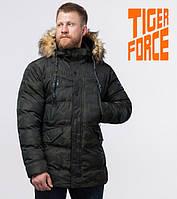 Куртка на меху зимняя мужская Tiger Force - 76029B темно-зеленая