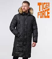 Куртка удлиненная на меху зимняя мужская Tiger Force - 73400K черная