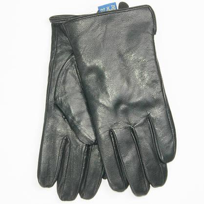 Оптом мужские кожаные перчатки с махровой подкладкой - №M4-2, фото 3