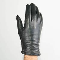 Оптом мужские кожаные перчатки с махровой подкладкой - №M4-2