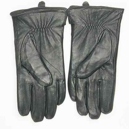 Оптом мужские кожаные перчатки с махровой подкладкой - №M4-2, фото 2