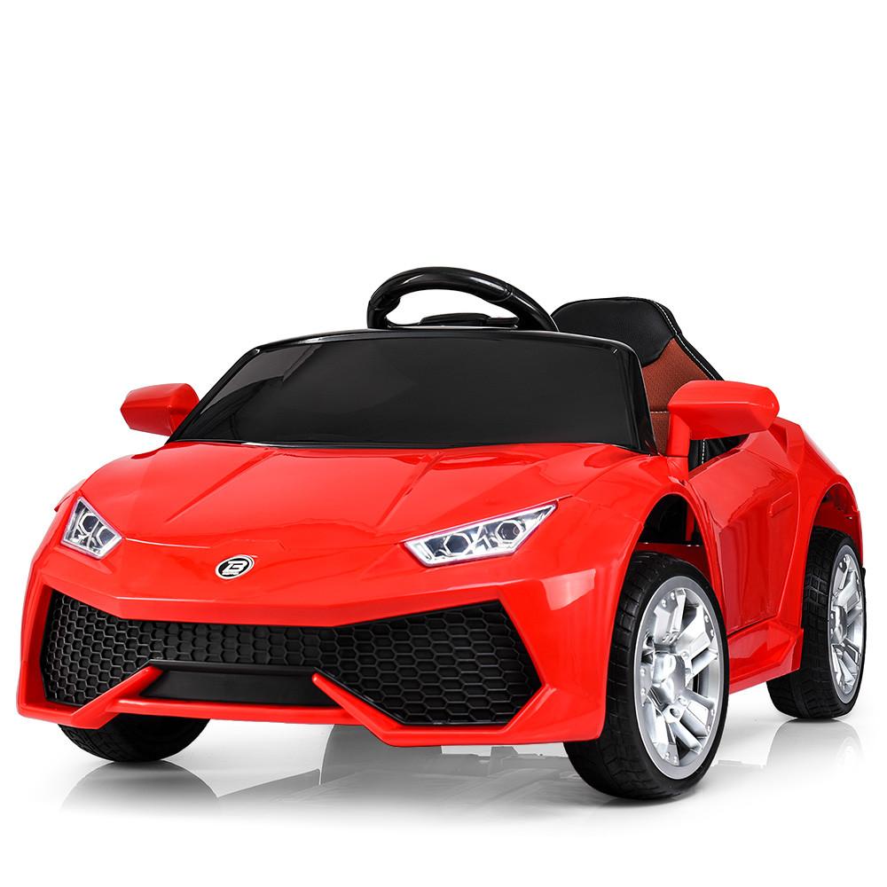 Детский электромобиль Lamborghini M 3826 EBLR-3: 2.4G, EVA, 50W, кожа - КРАСНЫЙ - купить оптом