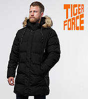 Куртка удлиненная на меху зимняя мужская Tiger Force - 76420G черная