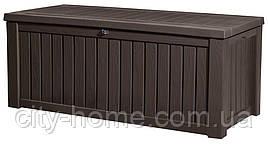 Ящик для хранения Keter Rockwood Storage Box 570 л, коричневый