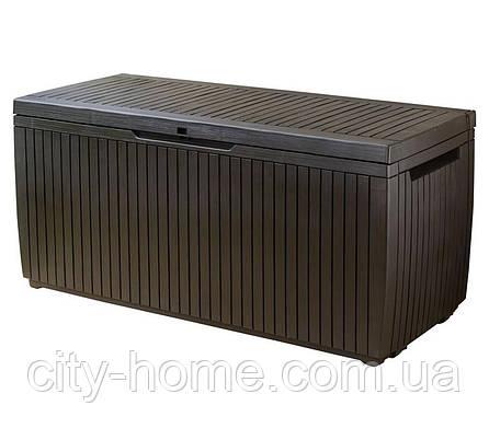 Ящик для внешнего хранения Keter Springwood 305 л, коричневый, фото 2