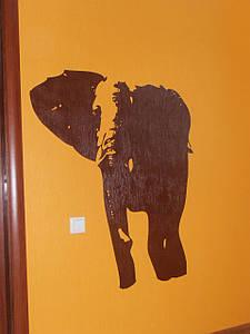 Трафарет для стен, Слон, одноразовый из самоклеющей пленки в трех размерах