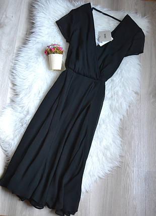 Новое черное миди платье с красивой спинкой ASOS, фото 2