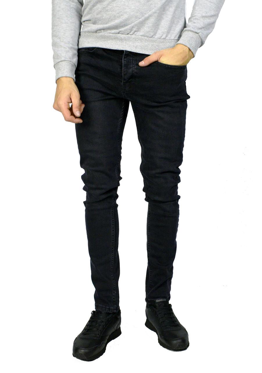 Черные мужские джинсы зауженные ZARA MAN