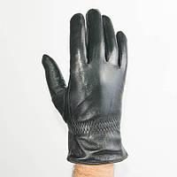Оптом мужские кожаные перчатки с махровой подкладкой - №M4-3, фото 1