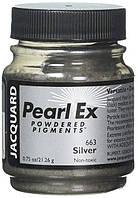 Пигменты высококачественные Перлекс Pearl Ex Перлекс (США, Jacquard) серебро 663, пробник 0.5 г, фото 1