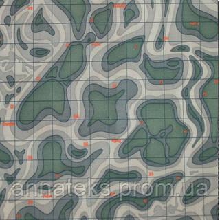 Плащёвая ткань 59506 ТК-707 F Карта 150СМ ПЛ 190 г/м2