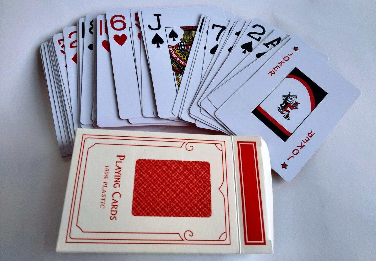 Карты для покера 100% пластик дешевые