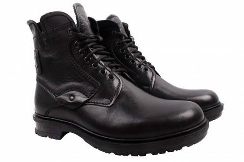 Ботинки Tonkelli натуральная кожа, цвет черный 44
