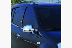 Накладки на зеркала вариант хромированный пластик (2 шт) - Dacia Duster 2008-2018 гг.