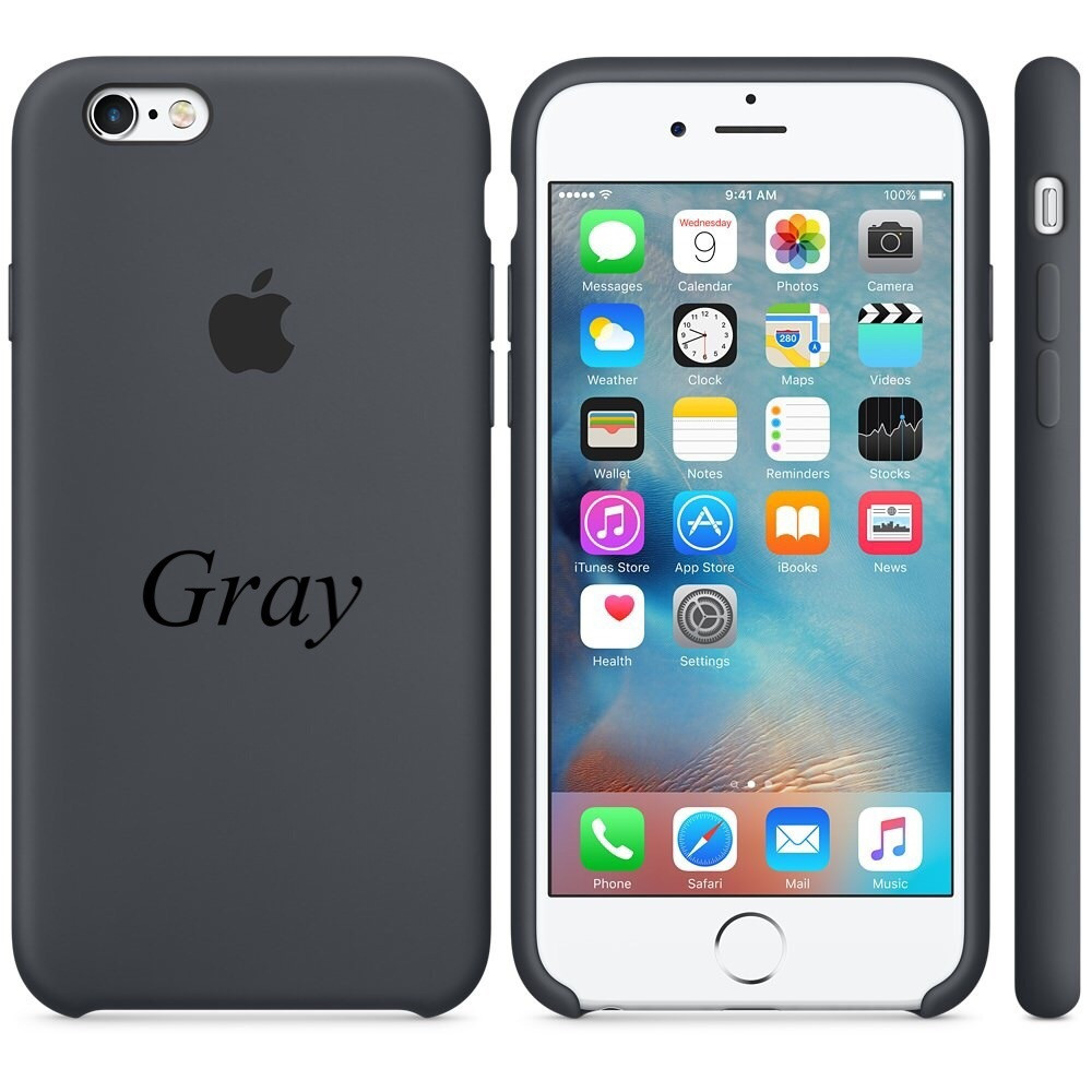 """Apple silicon case iPhone 6,6s  """" Gray"""""""