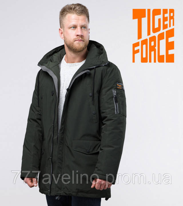 Tiger Force 54120   зимняя парка мужская темно-зеленая