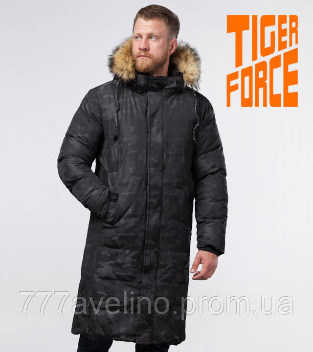 Tiger Force зимняя мужская куртка черная