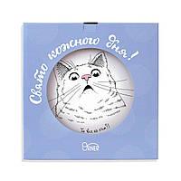 Тарелка «Здивований кіт» у подарунок, фото 1
