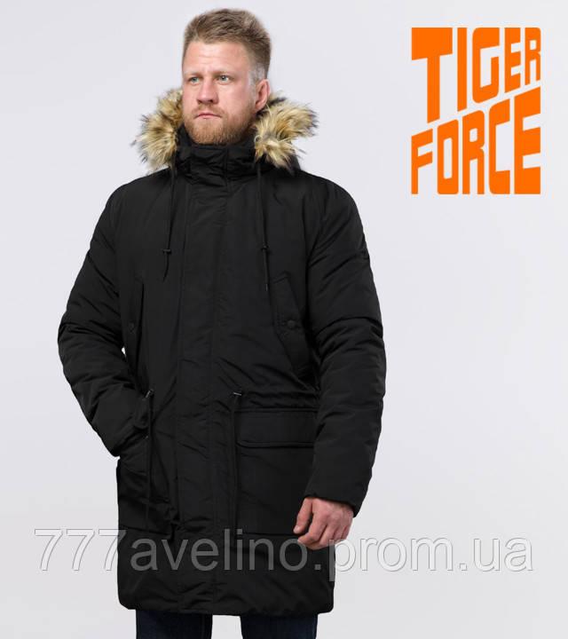 Tiger Force парка зимняя мужская черная