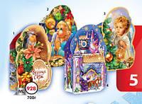 Новогодняя подарочная коробочка для конфет и сладостей 700гр №928 КД.
