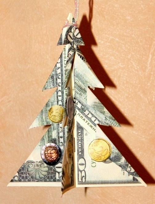 Денежная елка Доллар 15см