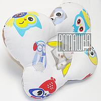 Правильная ортопедическая подушка Бабочка для новорожденных детская ортопедична Метелик 3972 Салатовый 2