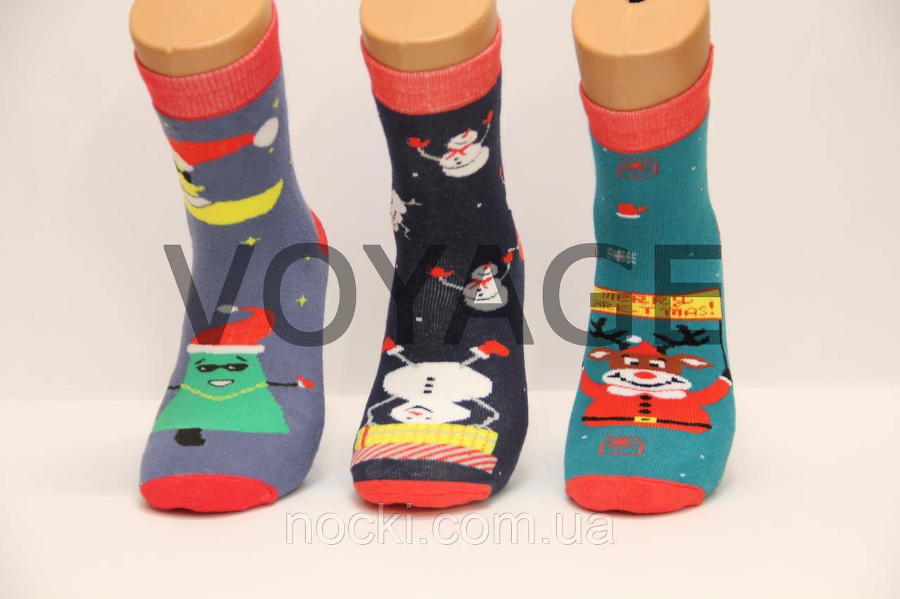 Мужские махровые новогодние носки НЛ хлопковые, фото 1