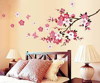 Интерьерная наклейка на стену Цветущий Персик (AY9053)
