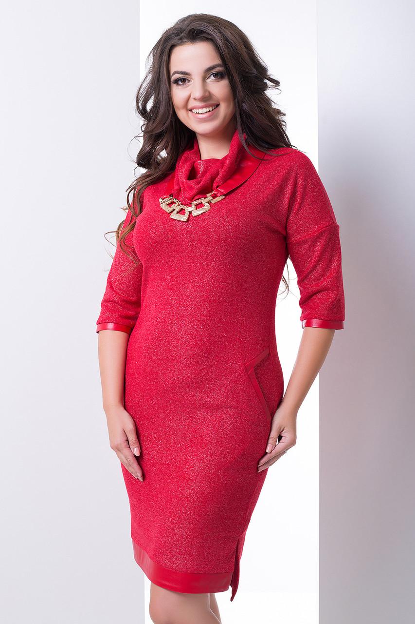 Нарядное платье с люрексом с 50 по 58 размеры