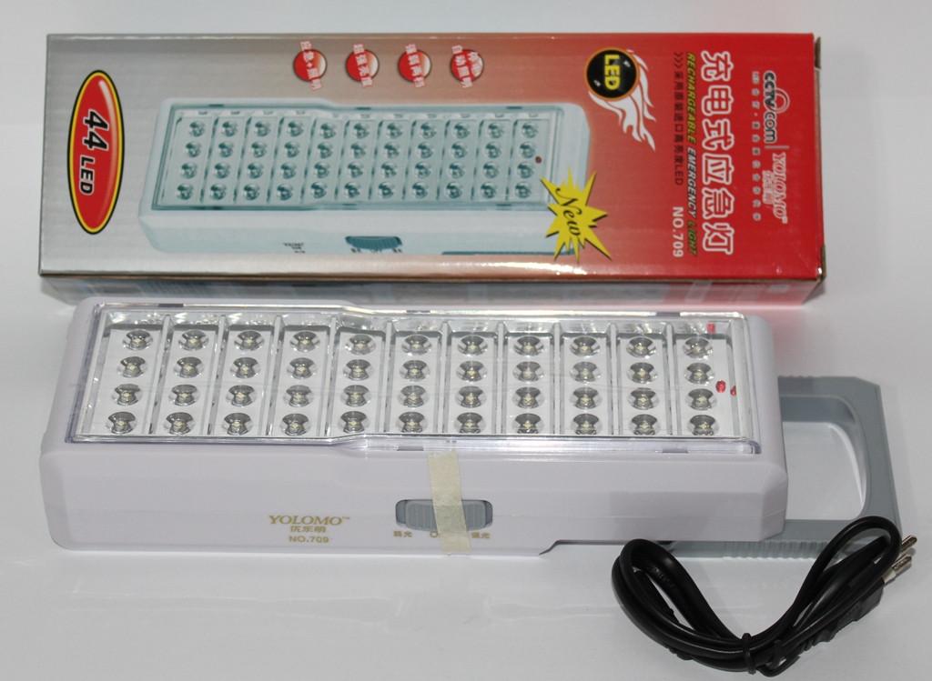LED лампа з акумулятором біла 44led