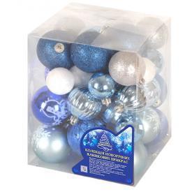 Новогодние ёлочные игрушки 4-6см 38шт/кор, 8505