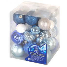 Новогодние ёлочные игрушки 4-6см 38шт/кор, 8505, фото 2